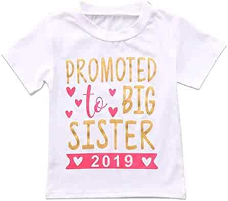 765a0bfa 2018 2019 Baby Girl Clothes Outfit Big Sister Letter Print T-Shirt Top  Blouse Shirts
