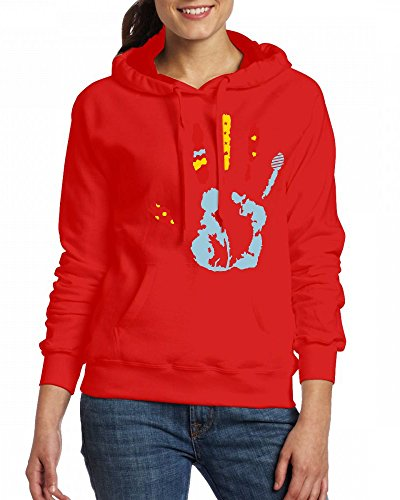 A colorful handprint with different shapes Womens Hoodie Fleece Custom Sweartshirts