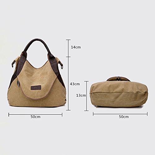 Shopping Sacs Blue Main Bag Vintage Multifonction Fourre Poignée à Tout Les Sac Bandoulière Toile Dames Crossbody Pour Casual Hobo Femmes Sac à Top Plage PHqgx