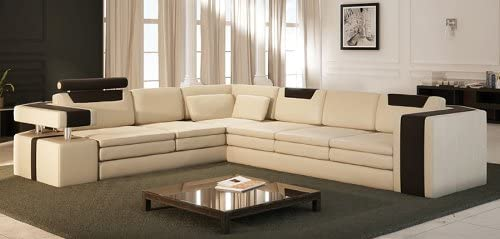Vista Modern Italian Design Leather Sectional Sofa