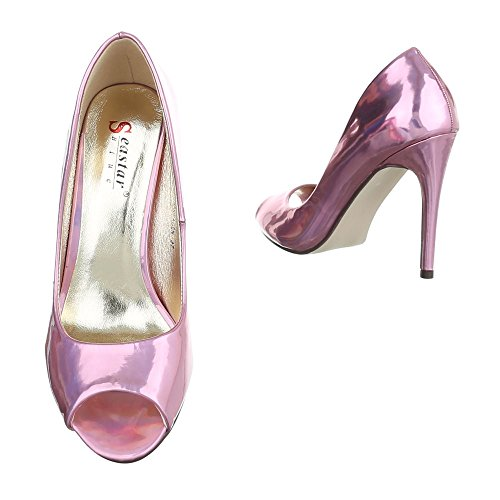 Ital-Design - Zapatos Mujer , color Rojo, talla 39