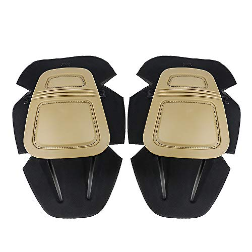 Pants Knee Pads - CS Force Tactical Protective G3 Combat Knee Pads for Military Airsoft Hunting Pants Tan