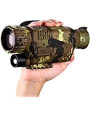 BOBLOV Digital Night Vision Monocular 5x8 Optics Scope Night Vision Infrared Monoculars with 16GB Card for Hunting Observe (P15 with 16G Card)