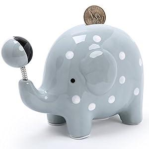 "FORLONG Piggy Bank Ceramic Soccer Coin Bank-(5 Designs for Choice Golf/Basketball/Soccer/Football/Hockey) 6.5"""