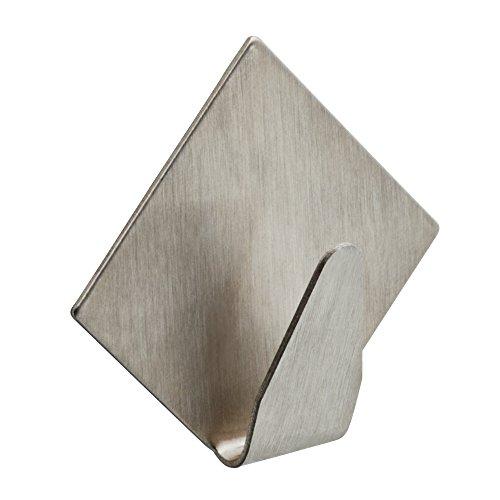ARROW 160471 Stainless Metal Medium Wall Hook, 4 Pk