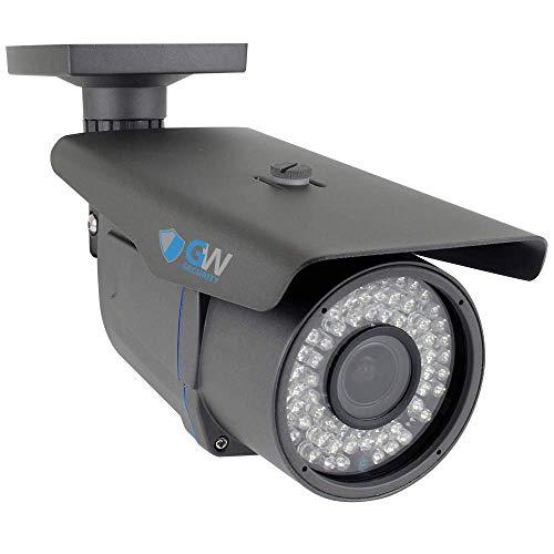 GW High End 1200 TVL Sony CMOS Analog Vari Focal Lens 64 PCs IR LED CCTV Surveillance Security Camera - Unique Metallic Grey