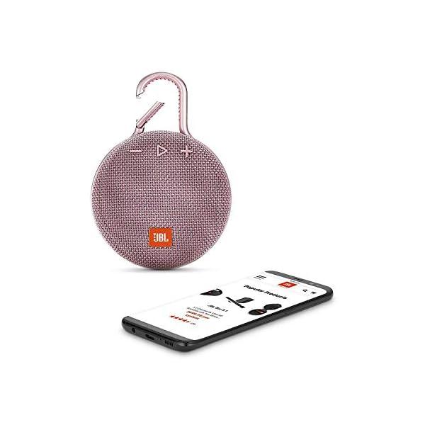 JBL Clip 3 - enceinte Bluetooth Portable avec Mousqueton - Étanchéité Ipx7 - Autonomie 10hrs - Qualité Audio JBL - Rose 3