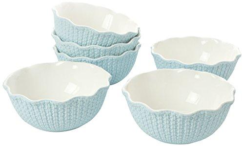 Classic Coffee & Tea Matte Sweater Bowls, 16cm, Baby Blue, Set of 6