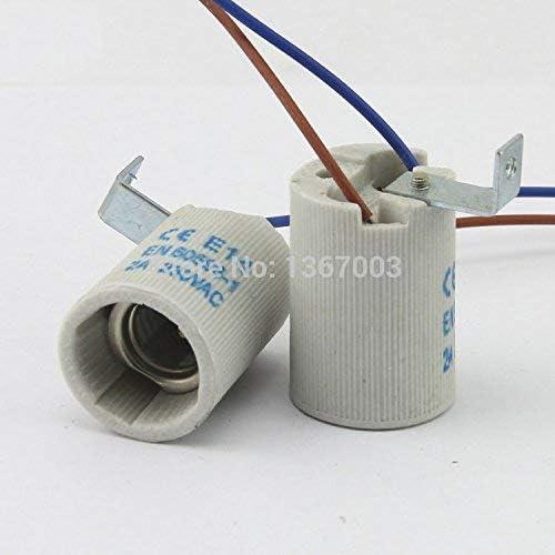AiCheaX 5pcs Douille en c/éramique E14 Base Support de Lampe /éclairage Accessoires de Montage Accessoires vis E14 Ignifuge