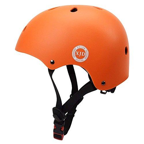 Face Kids Bicycle Helmet - XJD Kids Cycling Helmet, Impact Resistance Ventilation for Multi-Sports, Roller Bicycle BMX Bike Skateboard Sport Helmet (Orange)