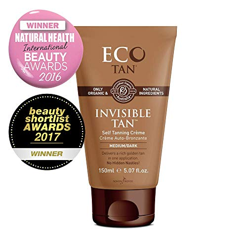 Eco Tan Invisible Tan Organic Face Body Tanning Lotion 5.29 fl oz (Best Drugstore Self Tanner For Pale Skin)
