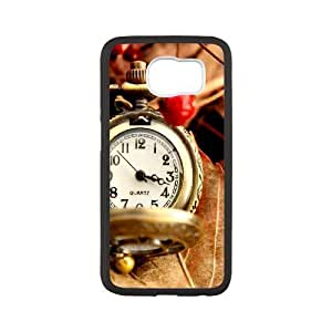 Gold Color Round Watch Samsung Galaxy S6 Case, Samsung Galaxy S6 Case Luxury Cute Sexyass - White