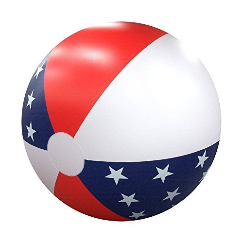 GIANT Patriotic 6 FOOT Inflatable BEACH BALL American USA July 4th Pool HUGE 6' by Sun Pleasure