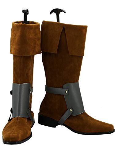 GOTEDDY Adult Rider Cosplay Boots Brown Shoes Costume Accessories -