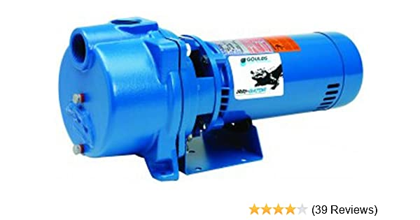 GOULDS Pumps GT20 IRRI-Gator Self-Priming Single Phase Centrifugal Pump, 2  hp, Blue