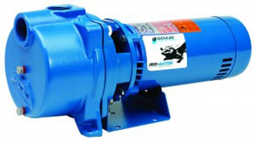 Cast Iron Sprinkler Pump - GOULDS Pumps GT15 IRRI-Gator Self-Priming Single Phase Centrifugal Pump, 1.5 hp, Blue