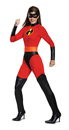 (Disguise Women's Mrs. Incredible Classic Adult Costume, red L)