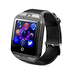 Bluetooth Smart Watch, Touch Screen Multifunctional Sport Watch Bralcelet Support SIM SD Card and with Camera Lens for iOS Android