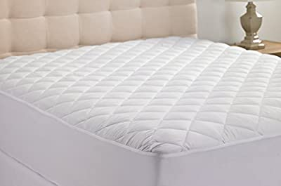 King Size Hypoallergenic Quilted Stretch-to-Fit Mattress Pad By Martha Clyne, 10 Year Warranty