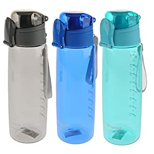 Sports Water Bottle 3-Pack Multi-Pack, 3 Colors, Tritan BPA-Free, Leak-Proof, 30oz (900mL), by Unity