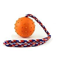 Noppenball, Wurfball, Spielball, Schleuderball am Seil, 3 Farben (orange)