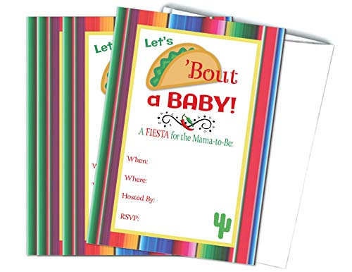 Let's Taco Bout a Baby Fiesta Baby Shower Mama to Be Invitations 20 Count with Envelopes]()