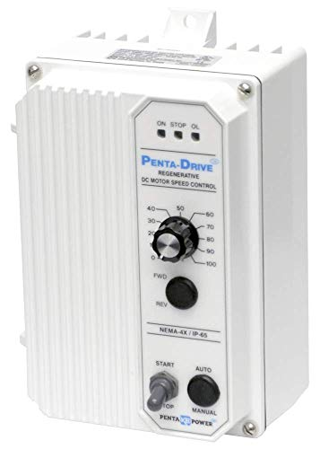 KB Electronics • KBRC-240D White • Part No. 8841 • NEMA 4X, IP65 DC Drive Regen Reversing • Rating: 1 HP, 11 Amps @ 115 • 2 HP, 11 Amps @230 VAC ()