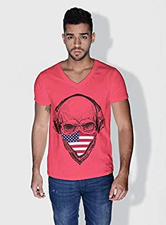 Creo Usa Skull T-Shirts For Men - Xl, Pink