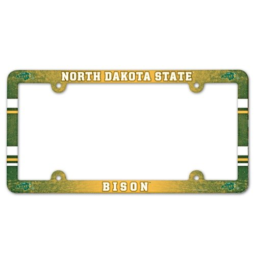 WinCraft NCAA License Plate with Full Color Frame, North Dakota State ()