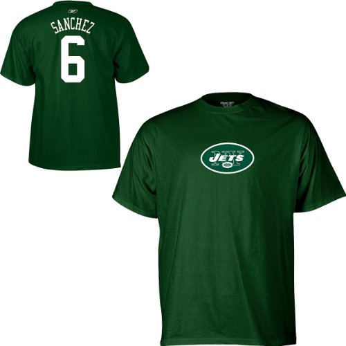 Reebok New York Jets Mark Sanchez Name & Number T-Shirt XX Large