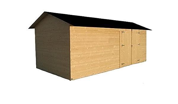 cadema Jardín Casa de madera, incluye suelo 2, 7 m x 3, 9 m x 2, 4 m, casa de dispositivo (16 mm) betera: Amazon.es: Jardín