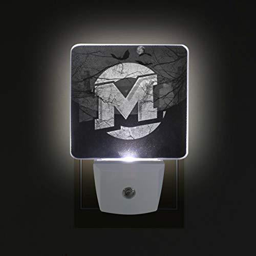 DEYYA Noche De Brujas Halloween Plug in LED Night Light, Night Auto Sensor Smart Lighting Dusk to Dawn Decorative Night for Bedroom Bathroom Kitchen Hallway Baby's Room,US Plug,2 Pack]()