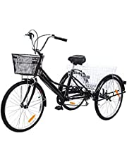 3 wheel bike and a basket for adults