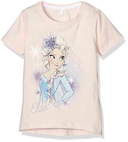 NAME IT Mädchen T-Shirt Nitfrozen MY SS Top MZ Ger, Rosa (Pearl), 116