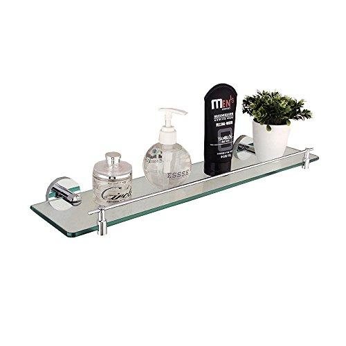 Shelf Black Bathroom Shelf Bathroom Shelf Cosmetics Tempered Glass Simple Shelf (Color : -