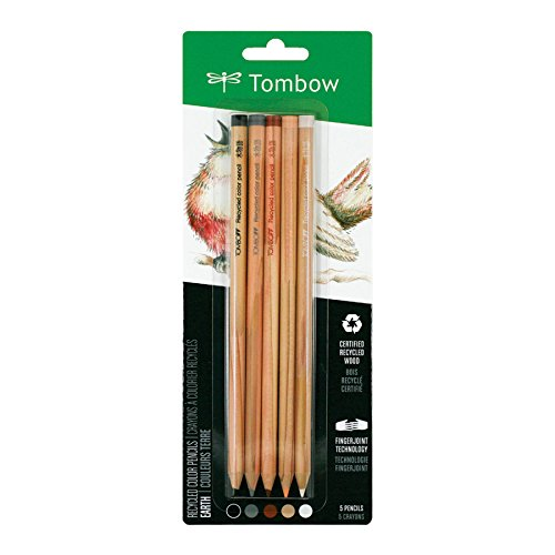 Tombow Recycled Colored Pencils, Earth, 5-Pack