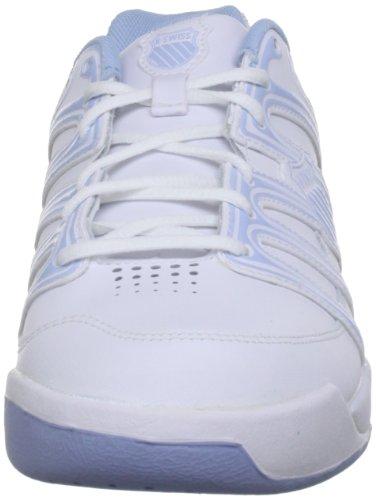 K-Swiss OPTIM OMNI IV 52780-109-M Unisex-Kinder Tennisschuhe White/Soft Blue
