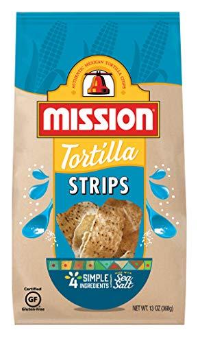 Mission Strips Tortilla Chips   Gluten Free   Restaurant Style Corn Tortilla Chips   13 oz