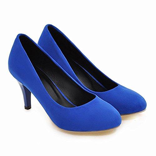 Carolbar Femmes Fête De Mariage Mode Talons Hauts Robe Pompes Chaussures Bleu