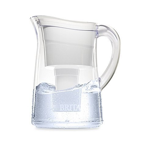 Brita Capri 10 Cup White Water Filter Pitcher by Brita
