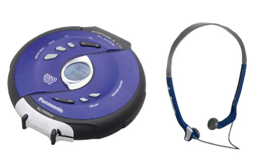 Panasonic SL-SW940 Shockwave Water Resistant Portable CD Player (Blue) (Cd Player Shockwave Panasonic)