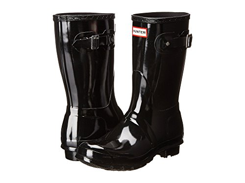 (Women's Hunter Boots Original Short Gloss Snow Rain Boots Water Boots Unisex - Black -)