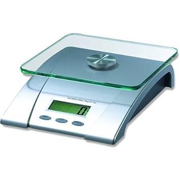 Mainstays apagado automático Digital de cristal, báscula de cocina pesa hasta 11 libras: Amazon.es: Hogar