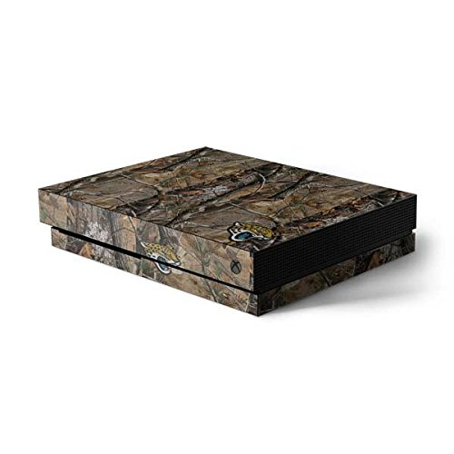 Skinit NFL Jacksonville Jaguars Xbox One X Console Skin - Jacksonville Jaguars Realtree AP Camo Design - Ultra Thin, Lightweight Vinyl Decal Protection