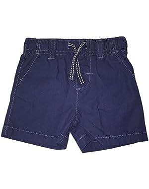 Carter's Boy's Navy Poplin Shorts (6 Months)