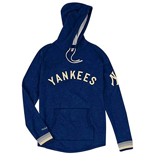 Mitchell & Ness New York Yankees MLB Men's Leader Lightweight Hooded Sweatshirt