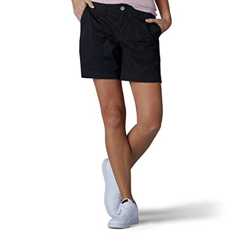 (LEE Women's Straight Fit Kinsey Short, Black 6)