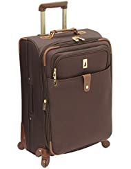 London Fog Luggage Chelsea Lites 25 Inch 360 Expandable Upright, Chocolate, One Size