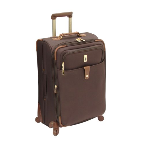 London Fog Luggage Chelsea Lites 25 Inch 360 Expandable Upright, Chocolate, One - Brown Luggage
