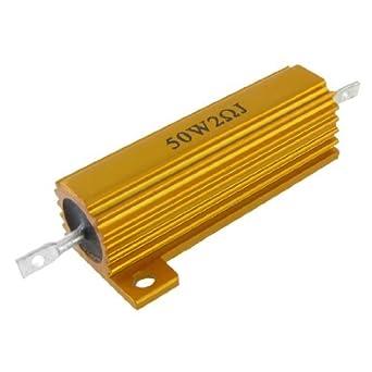 Tono eDealMax 50W 2 Ohm Oro Carcasa de aluminio de ...